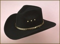 Black Pinch Front Faux Felt Hat Sizes