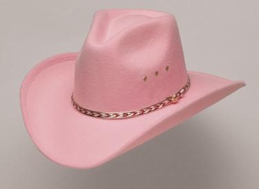 Pink Pinch Front Faux Felt Hat *Elastic