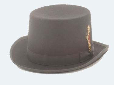 Wool Felt Top Hat BLACK