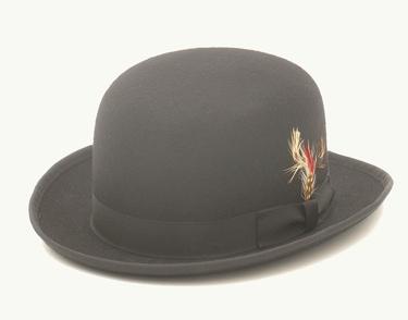 Wool Felt Derby Hat BLACK