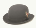 Wool Felt Derby Hat BLACK