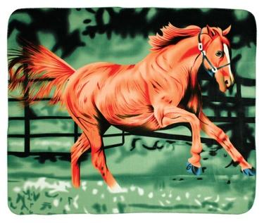 Fleece Blanket Running Horse 50 X 60