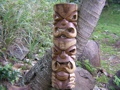 Double Headed Mask 36 Acacia Wood Love Prosperity