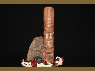 Hawaiian Happy Love Tiki Totem 20 Monkey Pod Wood
