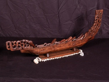 Waka Canoe 24 Acacia Koa New Zealand War Canoe