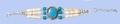 Genuine Bone Bracelet - Turquoise