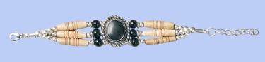 Genuine Bone Bracelet - Black z
