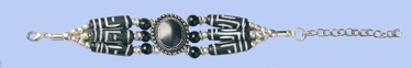 Genuine Bone Bracelet - Black