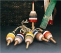 4.5 Inch Wooden set of 6 Nautical Buoy