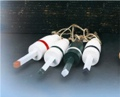 6 Inch Wooden set of 6 Nautical Buoy