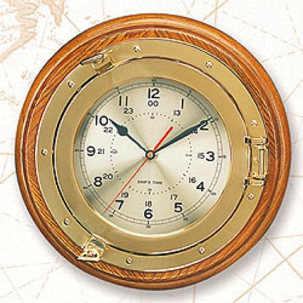 13.25 Inch Port Hole Clock Nautical Decor
