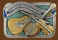 Country Western Music Belt Buckle 3-1/2 x 2-1/2