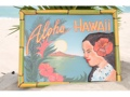 Vintage Sign Aloha Hawaii Hula 24 X 16 Hawaiian Surf Decor