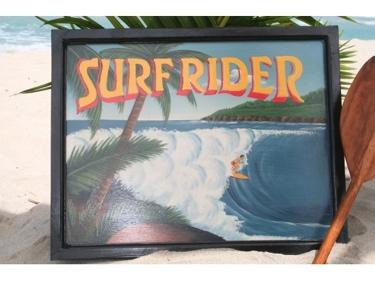 Vintage Sign Surfrider Pipeline 24 X 16 Hawaiian Surf Decor