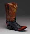 Boot Vase - Flame Design 9 x 8