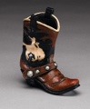 Boot Pencil Holder - Cowboy & Horse Design 4 1/2 x 4 1/2 z