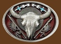 Buffalo Skull Belt Buckle 3-1/4 x 2-3/4