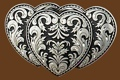 Triple Heart Belt Buckle 3-1/4 x 2-1/8