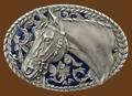 Horsehead Belt buckle 3-1/2 x 2-3/8