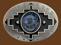 Black Enameled Belt Buckle 3 x 2-1/4