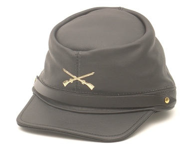 The Rebel - Black Leather Cap