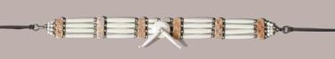 Genuine Bone Choker Necklace or Hatband- White