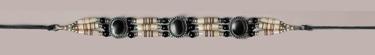 Genuine Bone Choker Necklace or Hatband - Black