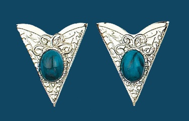 Collar Tips - Blue Stones