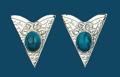 Collar Tips - Blue Stones