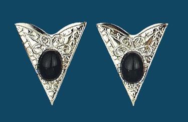 Collar Tips - Black stone