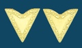 Gold Economy Collar Tips Screw-On 1-1/4 along edge