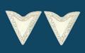 Silver Economy Collar Tips Screw-On 1-1/4 along edge