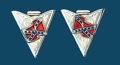 Rebel Flag Collar Tips Screw-On
