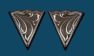 German Silver Collar Tips