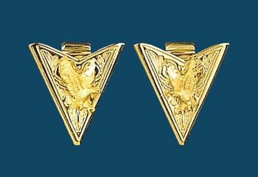 Gold Eagle Collar Tips