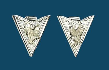 Silver Eagle Collar Tips