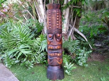 Tiki Totem 3 Ftantique Finish Indoor Decor
