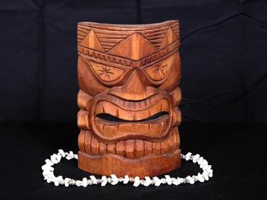 Carved Tiki Mask 8 ? Lucky Tiki