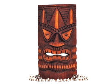 Carved Tiki Mask 12 Lucky Tiki