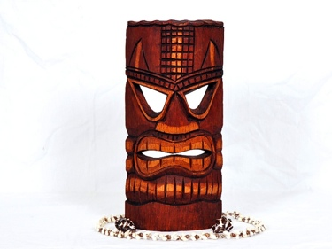 Carved Tiki Mask 12 Love Tiki