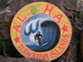 Aloha Hawaiian Islands Vintage Tiki Sign 16 Made In Hawaii