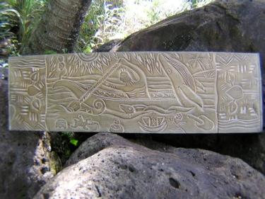 Wooden Relief Hawaiian Scene 36 Interior Tiki Bar Decor