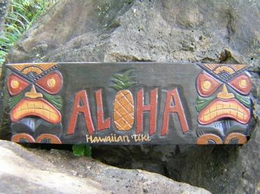 Aloha Pineapple Tiki Sign 24 Tiki Bar Decor