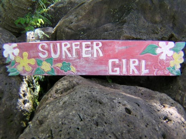 Decor Hawaii Decor Vintage Hawaii Surfer Girl Roxy Tiki Decor Sign 39 Island Decor