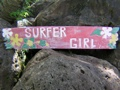 Decor Hawaii Decor Vintage Hawaii Surfer Girl Roxy Tiki Decor Sign 39 Island Decor