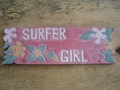 Vintage Hawaii Surfer Girl Roxy Tiki Bar Sign 24 Island Decor