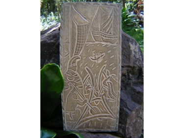 King Of The Island Chains King Kamehameha Hand Carved Storyboard