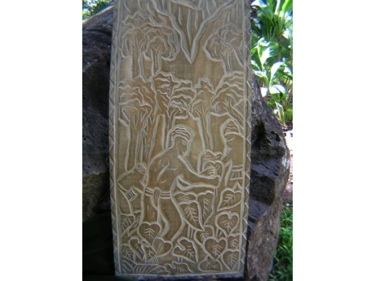 The Final Days: Taro Field King Kamehameha Hand Carved Storyboard