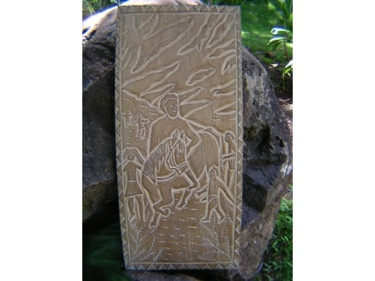 Kameameha'S Rule King Kamehameha Hand Carved Storyboard