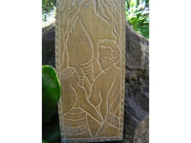 The King'S Love King Kamehameha Hand Carved Storyboard